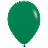 Pack of 100 - 12 Forest Green Balloons (Helium Qu