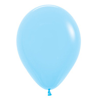 Pack of 100 - 12 Pastel Light Blue Balloons (Heli