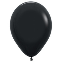 Pack of 100 - 12 Black Balloons (Helium Quality)