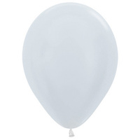 Pack of 100 - 12 Pearl White Balloons (Helium Qua