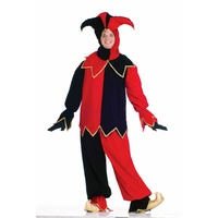 Delexe Court Jester Costume (Red/Black)