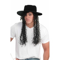80's Michael Jackson Wig with Hat