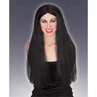 "Extra Long 30"" Black Wig"