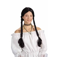 Braid Black wig with Pigtails