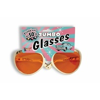 Jumbo Rock n Roll Glasses - Gold