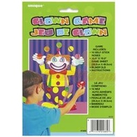 Stick the nose on clown Game
