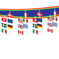 International Flag Ceiling Decoration (3.7m Long)
