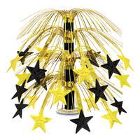 Black & Gold Star Cascade Centrepiece