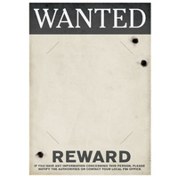 Gangster Wanted/Reward Sign