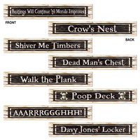 Pirate Street Sign Cutouts - Pk 4