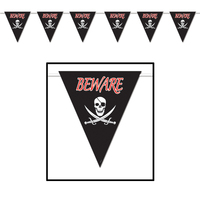 Beware of Pirates Pennant Banner