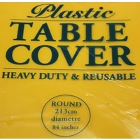 Yellow Round Tablecover Plastic