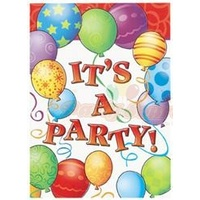 """It's A Party"" Invitations - Pk 8"