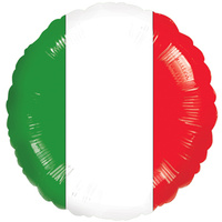 Italian Flag Foil Balloon