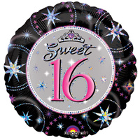 "18"" Sweet 16 Sparkle Foil Balloon"