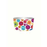 Cupcake Baking Cups with Toppers Bright Party- Pk 12
