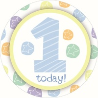 Age Badge- 1st Birthday Boy