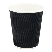 12oz Black Wave Coffee Cup - Pack of 25