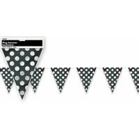 Black Polka Dot Flag Banner - 3.65m