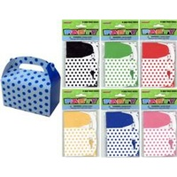 Polka Dot Mini Treat Box - Pk 6