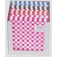 Checkered Napkins - Pk 20 ASSTD Colours