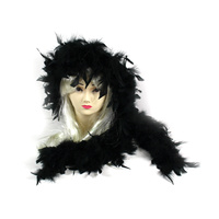 Black Feather Boa - 2m