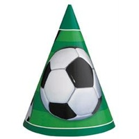 Soccer Ball Party Hats - Pk 8