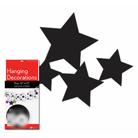 Stars Hanging Decorations - Black