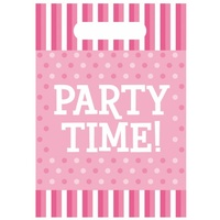 Party Time Loot Bags - Pink - Pk10