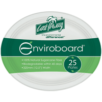 Enviroboard Oval Plate Large - Pack of 25