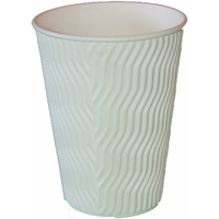 8oz White Wave Coffee Cup - Pack of 25