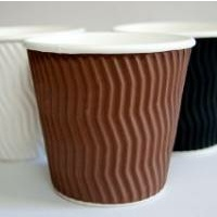 8oz Brown Wave Coffee Cup - Pack of 25