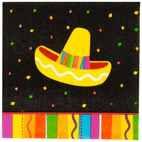 Fiesta Printed Cocktail Napkin 2 Ply - Pk 16