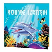 Ocean Party Invitations - Pk 8
