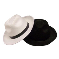 Gangster Hat - Black/ White