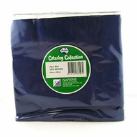 Navy Blue Dinner Napkins 2 Ply - Pk 50