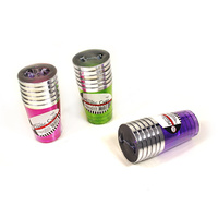 Deluxe Plastic Neon Cups (280ml) with Silver Rim - Pk 6