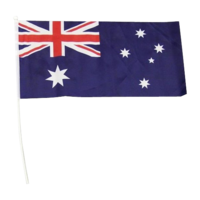 Australian Flag on Pole - 45 x 22.5cm