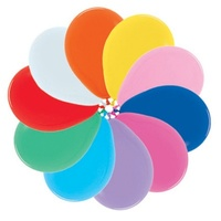 "12"" Mixed Std Balloons - Pk 100"