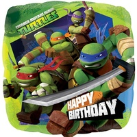 17in Teenage Mutant Ninja Turtles Happy Birthday Foil Balloon*
