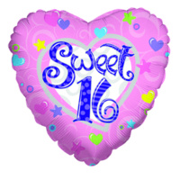 "18"" Sweet 16 Foil Balloon"
