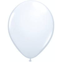 "24"" White Round Balloon - Pk5"
