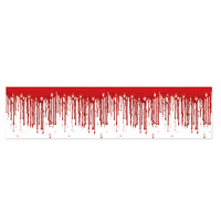 Dripping Blood Poly Decorating Material - 30.5cm x 762cm