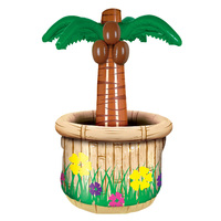 Inflatable Palm Tree Cooler - holds 24 cans, 45.7cm x 71.1cm