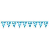 Blue 1st Birthday Pennant Banner - 27.9 x 365.8