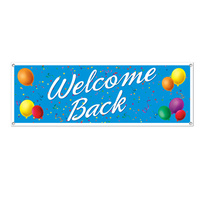 All-Weather Welcome Back Sign Banner - 152.4cm x 53.3cm