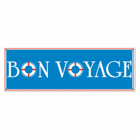 All-Weather Bon Voyage Sign Banner - 152.4cm x 53.3cm