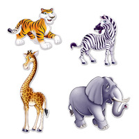 4 Jungle Animal Cutouts