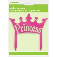 Princess Crown Plastic Cake Topper