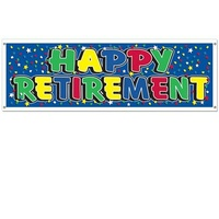 Happy Retirement Jumbo Sign Banner